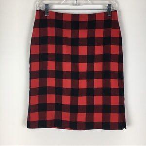 Ralph Lauren Red & Black Buffalo Plaid Skirt 4